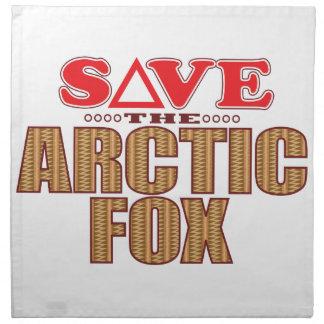 Arctic Fox Save Napkin