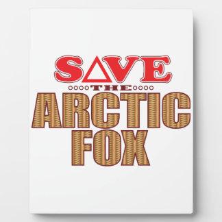 Arctic Fox Save Plaque