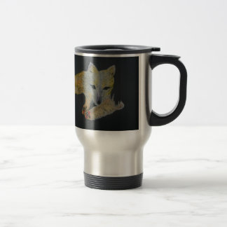 arctic fox travel mug