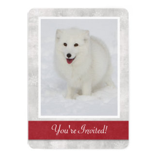 Arctic Fox Winter Party Invitation