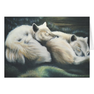 """Arctic Foxes"" Card"
