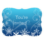 Arctic Frozen Snowdrift Personalised 13 Cm X 18 Cm Invitation Card