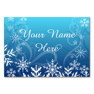 Arctic Frozen Snowdrift Personalized Table Card