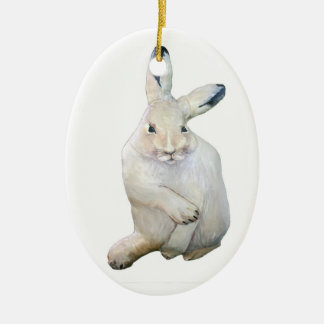 Arctic Hare Christmas Ornament