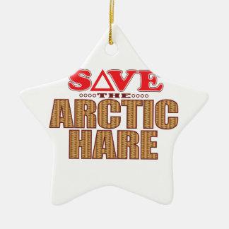 Arctic Hare Save Christmas Ornament