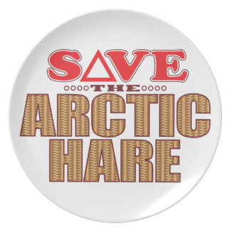 Arctic Hare Save Plate