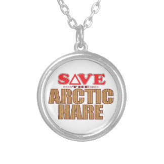 Arctic Hare Save Silver Plated Necklace