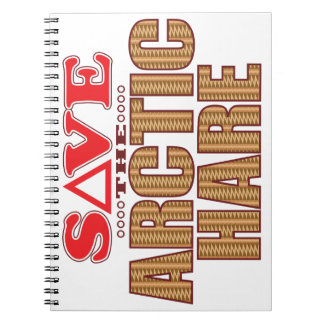 Arctic Hare Save Spiral Notebook