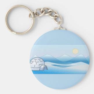 Arctic Igloo Blue Keychains