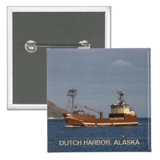 Arctic Lady, Crab Boat in Dutch Harbor, Alaska Buttons