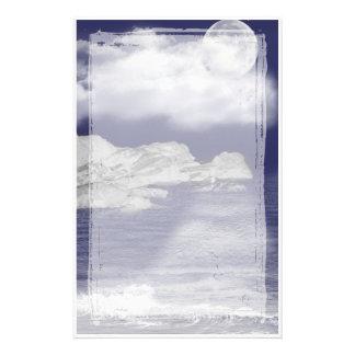 Arctic Moon Fantasy Stationery