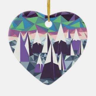Arctic Mountains.jpg Ceramic Heart Decoration