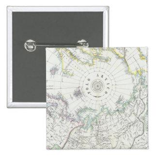 Arctic, Northern Hemisphere 15 Cm Square Badge