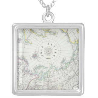 Arctic, Northern Hemisphere Silver Plated Necklace