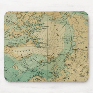 Arctic Ocean Antique Map Mouse Mat