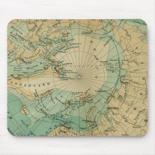 Arctic Ocean Antique Map Mouse Mat