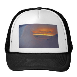 Arctic ocean sunset winter time scene cap