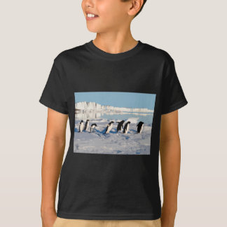 Arctic Penguins Running into the Sea T-Shirt