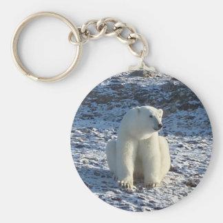 Arctic Polar Bear Basic Round Button Key Ring
