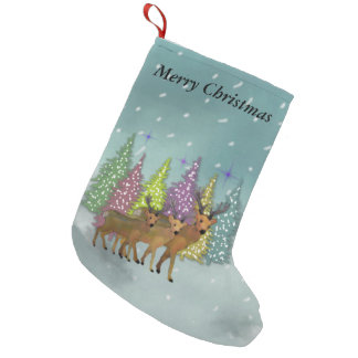 Arctic Reindeer Christmas Stocking