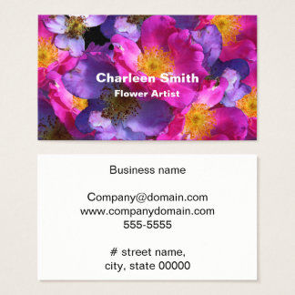 Arctic Roses Business Card