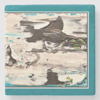 Arctic Rush, Blue and White Coaster Stone Coaster