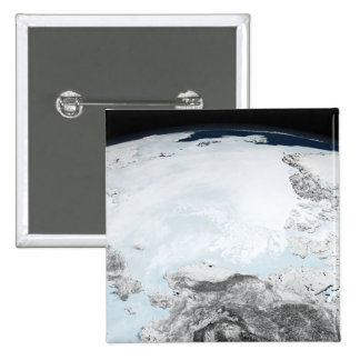 Arctic sea ice 2 15 cm square badge