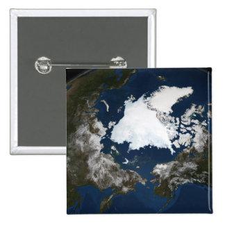Arctic sea ice 15 cm square badge