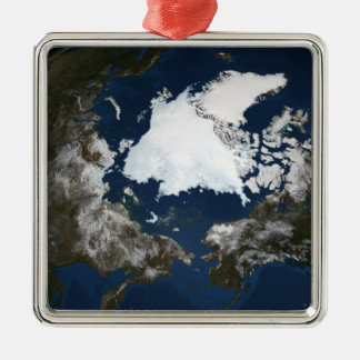 Arctic sea ice christmas ornament
