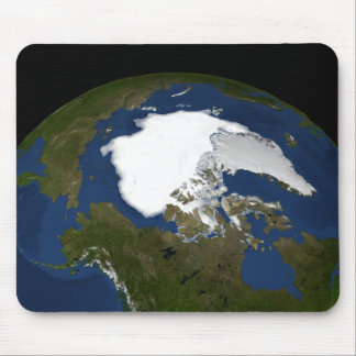 Arctic sea ice in 2005 mouse pad