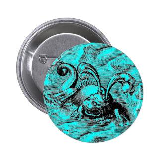 Arctic Sea Monster 6 Cm Round Badge