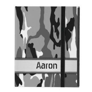 Arctic Snow Camo Name Template iPad Cover