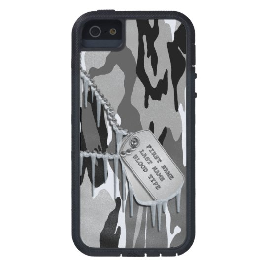 Arctic Snow Camo w/ Dog Tags iPhone 5 Cover