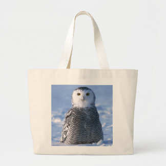 Arctic Snowy Owl Photo Designed Personal Jumbo Tote Bag