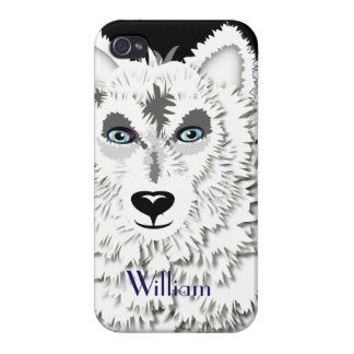 Arctic White Wolves Wild Animal Design iPhone 4/4S Case