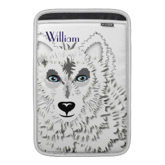 Arctic White Wolves Wild Animal Design Sleeve For MacBook Air