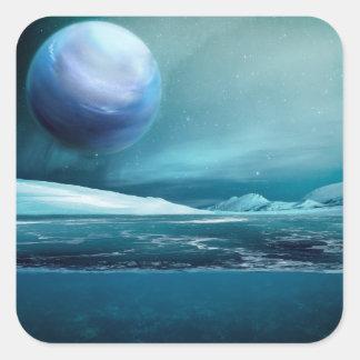 Arctic Winter Night & Moon Glossy Stickers