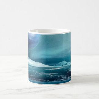 Arctic Winter Night Moon Sea Ice Coffee Mug