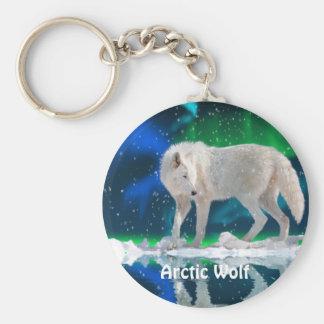 ARCTIC WOLF & Aurora Zipper Pull\Keychain Key Ring
