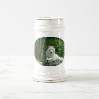 Arctic Wolf Beer Stein Coffee Mugs