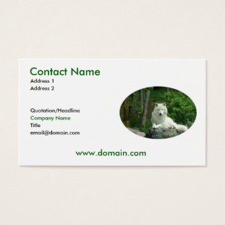 Arctic Wolf Business Card