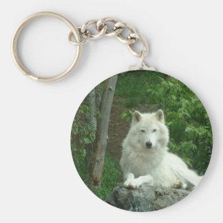 Arctic Wolf Keychain