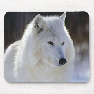 Arctic Wolf Mouse Mat