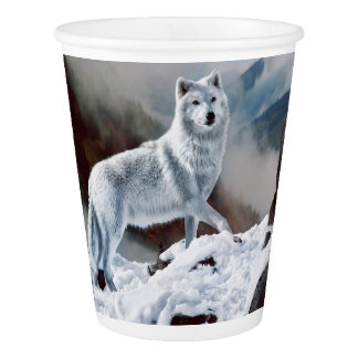 Arctic Wolf Paper Cup