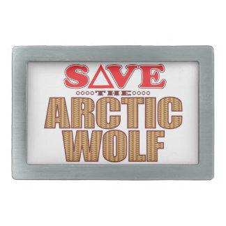 Arctic Wolf Save Belt Buckles