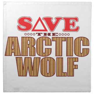 Arctic Wolf Save Napkin
