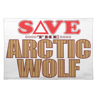 Arctic Wolf Save Placemat