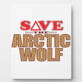 Arctic Wolf Save Plaque