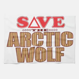 Arctic Wolf Save Tea Towel