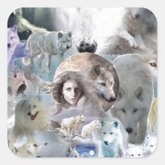 Arctic Wolf Square Sticker